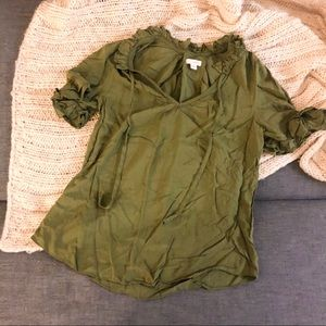 Anthropologie Odille olive green blouse